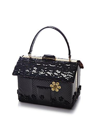 KOTUR Women's Ibsen Snakeskin & Sequins Handbag