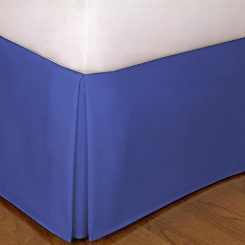 "650 Tc Egyptian Cotton 1X Bed Skirt For Rv'S, Campers, Bunk & Travel Trailers 15"" Drop Rv Bunk (38X80"") Egyptian Blue Solid front-613034"