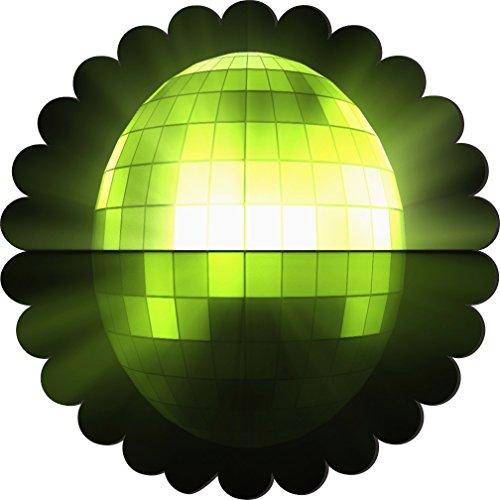 Rikki Knighttm Green Flashing Disco Ball Design Scallop Flower Scallop Shape Fridge Magnet front-622988