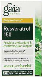 Gaia Herbs Resveratrol 150, 50 Liquid Phyto-Capsules