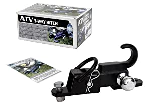 Komodo ATV 3-Way Receiver Hitch with Hitch Ball from Big Roc Tools, Inc