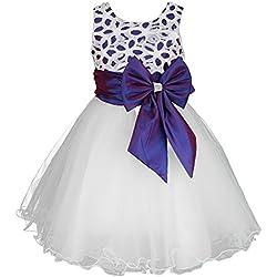 Disco Ball® ragazze Fiore Flora damigella d'onore festa di battesimo abbigliamento bambina vestiti del bambino di età 2-12 anni