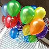 Latex Standard Color Balloons. Turn your party into a dazzling rainbow with these 12' colorful balloons! In dark blue, light blue, green, yellow, white, orange, red, purple and pink, these balloons make excellent decorations for a variety of events and gatherings.