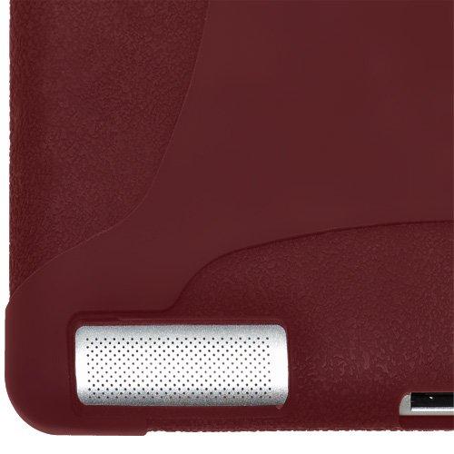 Imagen de Amzer la jalea del silicón de la piel para Apple iPad 2 - Rojo Granate (AMZ90794)
