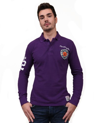 Japan Rags Case Fitted Purple Man Polo Shirts Men - S