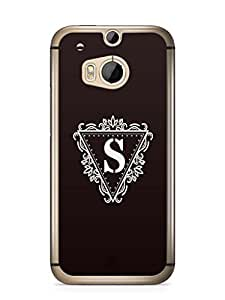 YuBingo Monogram with Beautifully Written letter S Mobile Case Back Cover for HTC One M8