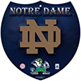NCAA Notre Dame Fighting Irish Plastic Interstate Sign, 8 x 8-Inch