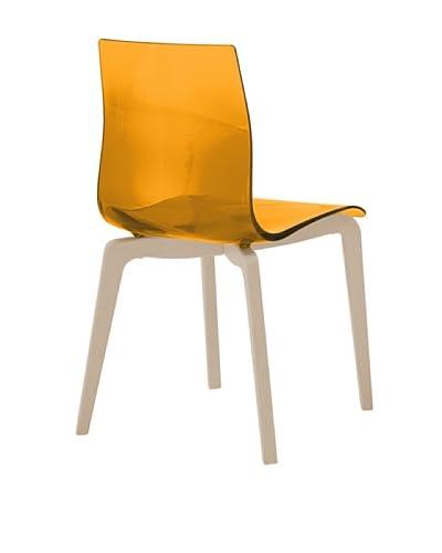 Domitalia Gel-L Chair, Transparent Orange/Ash White