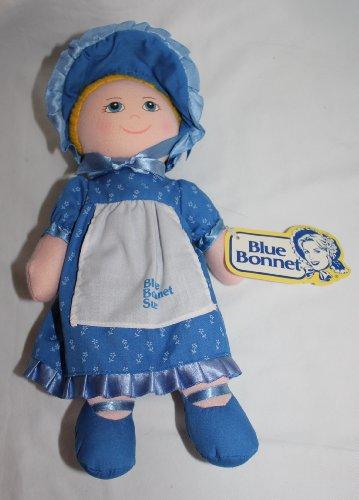 "Vintage "" Blue Bonnet Sue "" Baby Doll Plush Toy 11 Inches front-108264"