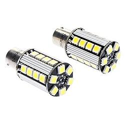 See 1156 5W 26x5050SMD 400-450LM 6000-6500K LED White Light Car Brake / Backup / Turn Light (DC 12V, 1-Pair) Details