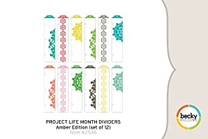 Project Life Month Dividers - Amber Edition