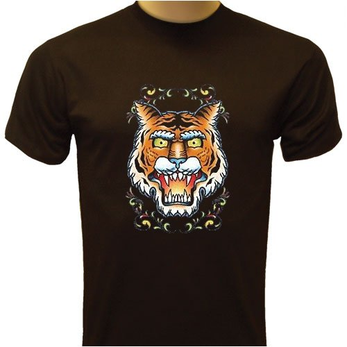 Tiger Tattoo T-shirt, Classic Tattoo Design T-shirt, Old School Vintage