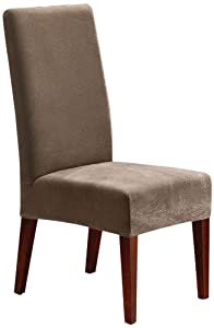Sure Fit Stretch Pique Shorty Dining Room Chair Slipcover, Taupe