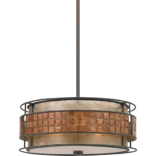 Ideal Quoizel MCCRC Mica Light Pendant from the Quoizel Naturals Collection with Mica Shade Renaissance Copper