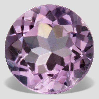 1.10 carat Round Brilliant Purple Amethyst Top SI Clarity 7 mm Loose Gemstone