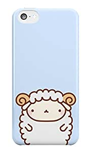 The Fappy Store Cute Sheep plastic back cover for iphone 5c
