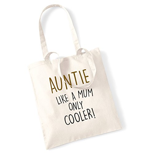 Auntie like a mum only cooler! tote bag