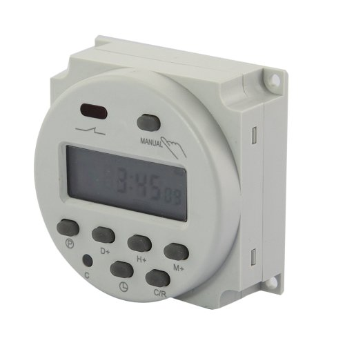 Gadgetzone (Us Seller) 17 On/Off 7-Day Weekly Digital Lcd Programmable Timer Electronic Time Switch Relay Dc 110V, White