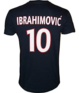 T-shirt - Zlatan IBRAHIMOVIC - N°10 - Collection officielle - PARIS SAINT GERMAIN - PSG - Football club Ligue 1 - Tee shirt enfant 12 ans