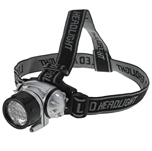 Lighting EVER Super Bright LED Headlamp, 18 White LED and 2 Red LED, 4 Brigthtness Level Choice by Lighting EVER