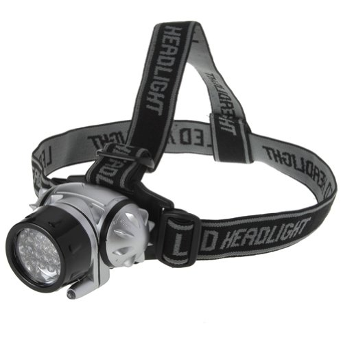 Lighting EVER Super Bright LED Headlamp, 18 White LED and 2 Red LED, 4 Brigthtness Level Choice