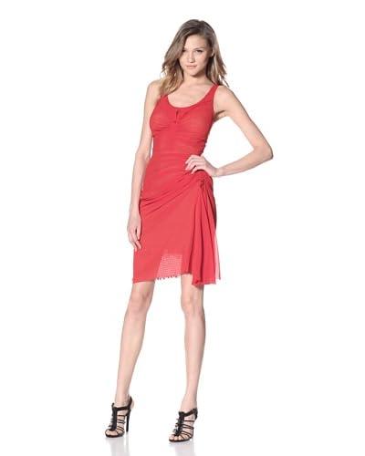 Byron Lars Women's Georgette Draped Utility Dress  - Scarlet