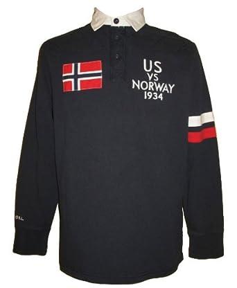 Polo Ralph Lauren Men's Navy Rugby Shirt-L