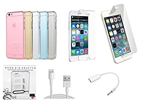 GT Soft Silicone Transparent Back Cover Case for Apple iPhone 5G
