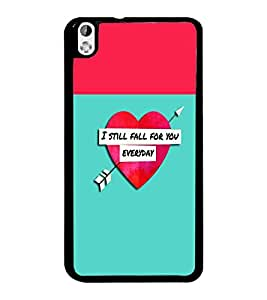 PrintDhaba Quote D-2632 Back Case Cover for HTC DESIRE 816 (Multi-Coloured)