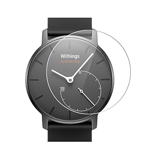 Withings Activite Pop Screen Protector, Vikoo Ultra-thin Explosion-proof Anti-Scratch Full Coverage HD Clear Screen Protector for Withings Activite Pop Smart Watch(2 pcs)