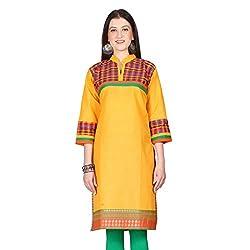 Janasya women's Chrome Solid kurtis