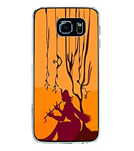 ifasho Lord Krishna with Flute animation Back Case Cover for Samsung Galaxy S6 Edge