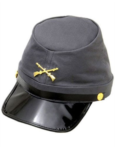 Adult Civil War Confederate Officer Soldier Kepi Hat