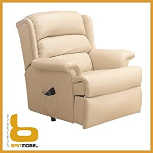 CELEBRITY HAMPTON RISER RECLINER ARMCHAIR LIFT AND TILT LEATHER ELECTRIC Ama