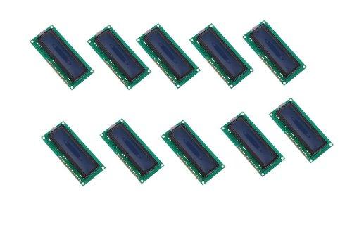 10 Pcs New 5V Character Lcd Module Display Lcm 1602 16X2 Hd44780 Blue Blacklight White