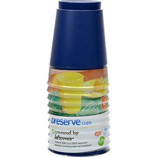Preserve Tumblers Reusable Cups - Midnight Blue - Case of 12 - 10 Packs - 16 oz