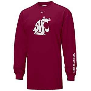 Nike Washington State Cougars Crimson Classics Logo Long Sleeve T-shirt (X-Large)