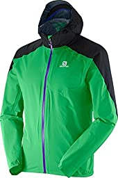 Salomon Bonatti WP Jacket - Men\'s Bud Green / Black Large