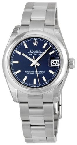 Rolex Datejust Blue Index Dial Oyster Bracelet Unisex Watch 178240BLSO