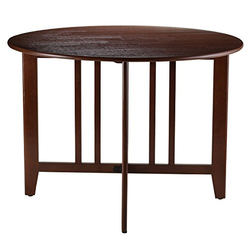 Leaf Round Table Mission 42 Inch Furniture Tables Kitchen Dining Room