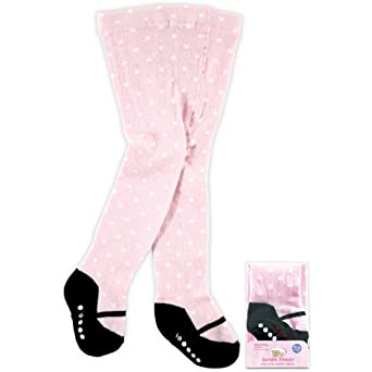 Luvable Friends Mary Jane Non-Skid Cotton Tights, 9-18 months