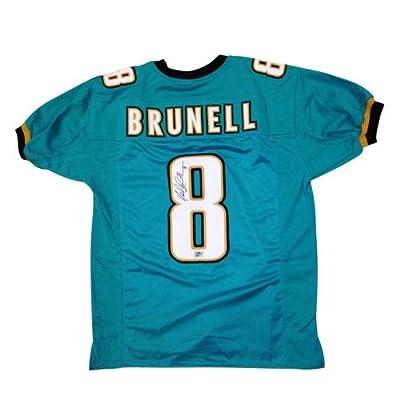 Mark Brunell Autographed Jacksonville Jaguars (Teal #8) Custom Jersey