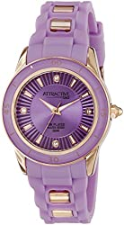 Q&Q Attractive Analog Purple Dial Womens Watch - DA43J102Y