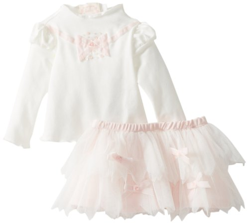 Biscotti Baby-Girls Newborn Vanilla Sugar Top and Skirt, Ivory, 6 Months