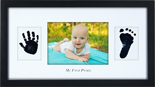 Baby gifts personalized best baby shower gifts handprint baby gifts personalized best baby shower gifts handprint footprint frame lifetime warranty baby keepsake gifts safe ink pad new baby decorations for negle Image collections