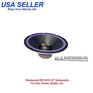 """ROCKWOOD XR-1515 15"""" CAR/HOME/DJ SUBWOOFER"""