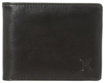 Hurley Men's Honor Roll Bi Fold Wallet, Black, One Size