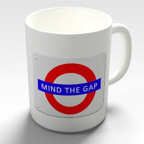 Mind The Gap Souvenir Sign Humour Funny Novelty Mug Tea Coffee Gift Cup