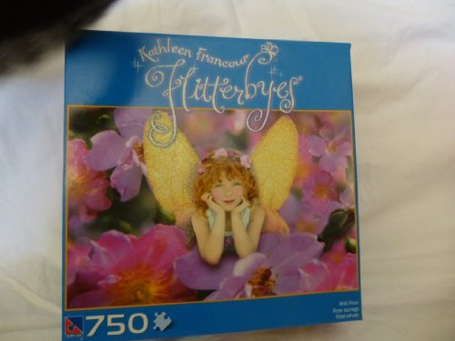 Kathleen Francour Flitterbyes 750 Piece Puzzle Wild Rose