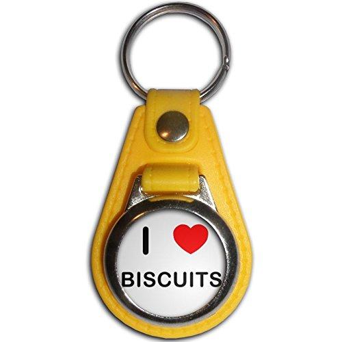 i-love-biscuits-giallo-plastica-metallo-medaglione-colori-portachiavi